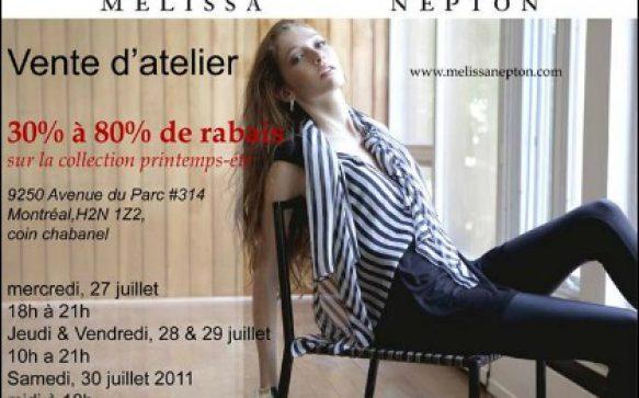 Vente d'atelier Mélissa Nepton