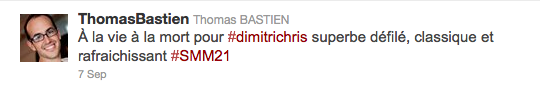 Jeans & Stilettos - Tweet de Thomas Bastien