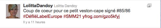 Jeans & Stilettos - Tweet de Lolitta Dandoy - 21ème  Semaine de Mode de Montréal