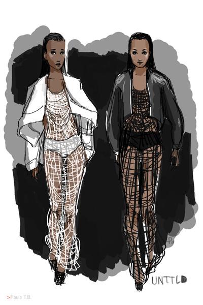 Jeans & Stilettos - Croquis défilé UNTTLD par Paule T.B