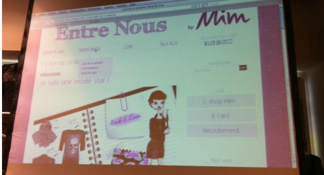 Au lancement du blogue Entre nous by MIM