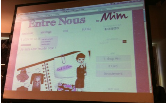 Au lancement du blogue Entre nous by MIM