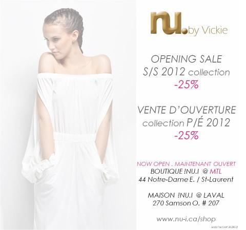 Vente d'ouverture - Nu I by Vickie - Montréal - Jeans & Stilettos