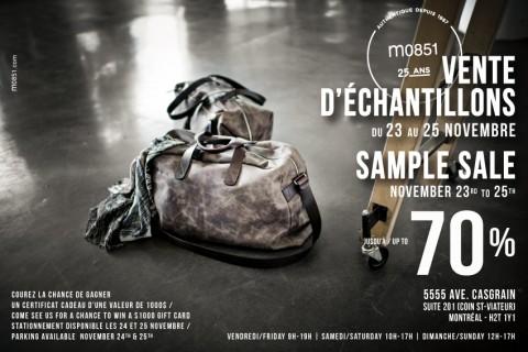 Vente échantillons - m0851-automne 2012