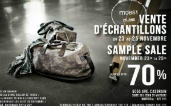 Vente d'échantillons M0851 – Montréal