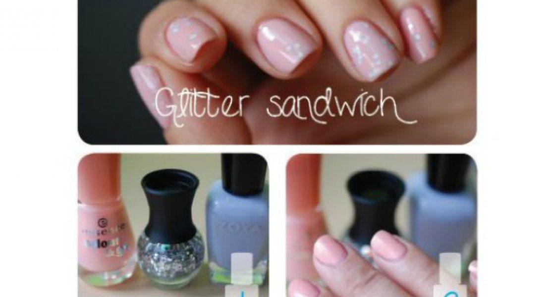 [NAILVASION] La manucure glitter sandwich