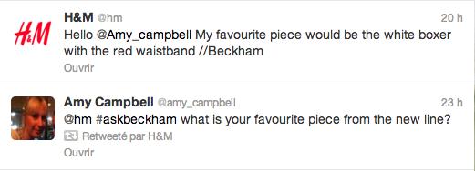 Tweet avec David Beckham