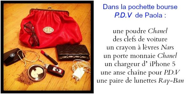 Pochette Bourse - P.D.V - Rose et Joséphine