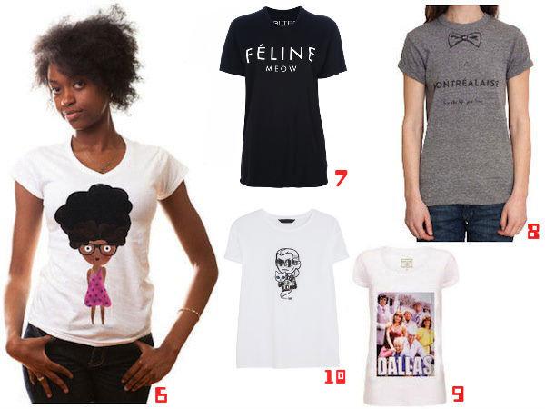 sélection 2 - tee-shirt sur Jeans & Stilettos