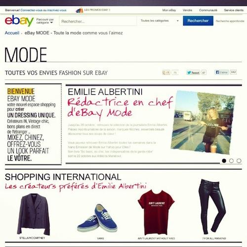 eBay Mode - Émilie Albertini
