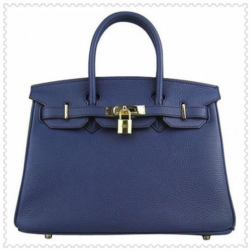 Sac Birkin d'Hermès bleu marine