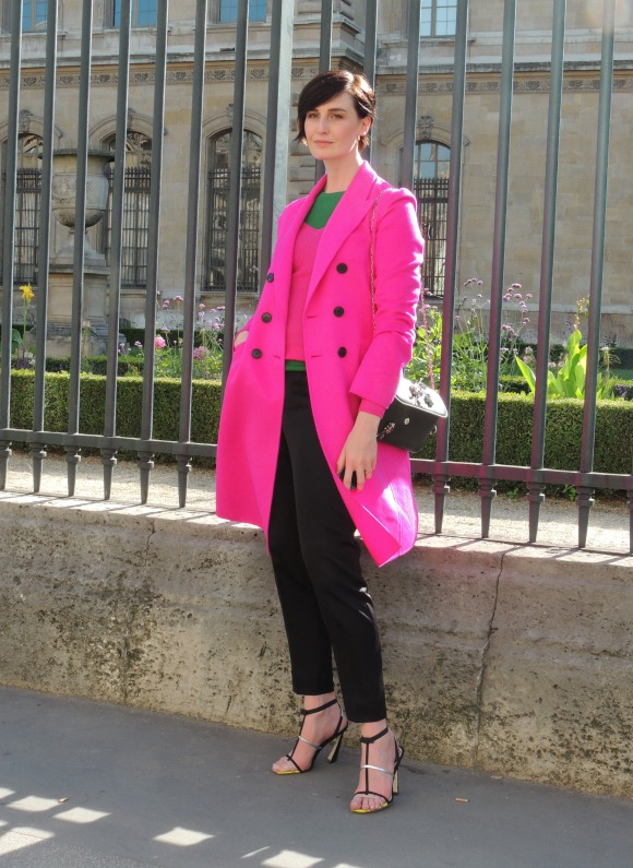 Erin O'Connor - Paris Fashion Week P/É 2015 - Jeans & Stilettos