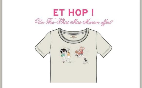 Opération tee-shirt Miss Marion offert par AIGLE