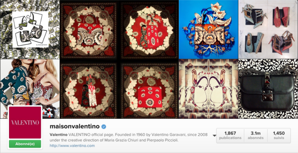 Instagram-Maison Valentino