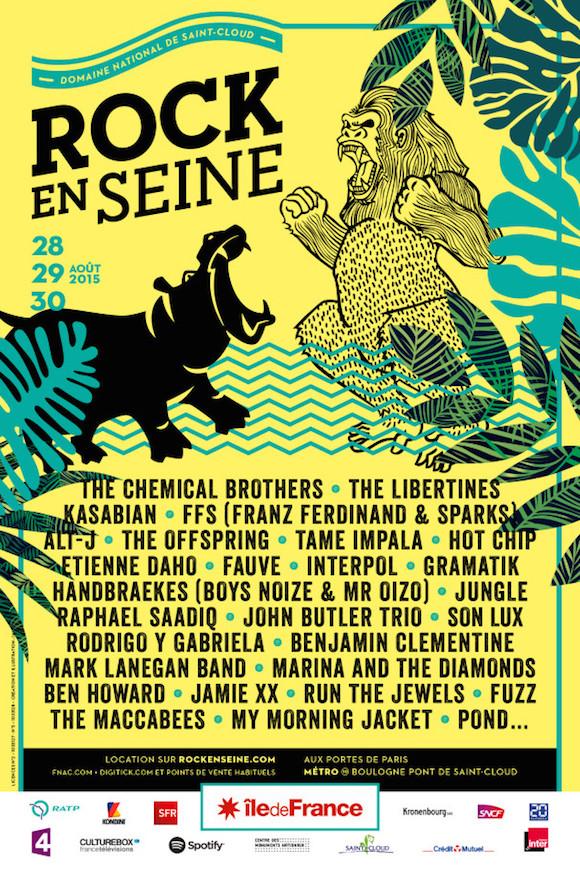 Affiche du Festival de musique Rock en Seine 2015 - Jeans & Stilettos
