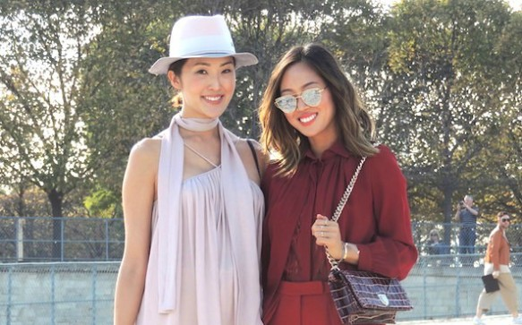 Paris Fashion Week P/É 2016: Chriselle Lim et Aimee Song